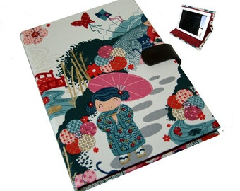 Ipad Pro iPad Case Stand 2 3 4 Air Hard Case, iPad Cover, i Pad stand up iPad mini Japanese Kokeshi Dolls Camera Hole iPad Pro