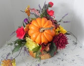 Sale  fabulous fall autumn Thanksgiving centerpiece unique silk flowers for home parties showers weddings celebrations gift