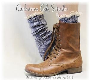 MISS TORI in Denim - Socks lace boot socks boot socks,combat boot socks  womens boot socks cowboy boot socks Catherine Cole Studio SLX204L