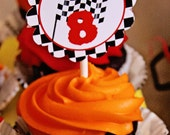 Personalized CUPCAKE TOPPERS or Favor Tags - You choose theme - includes Name - Printable Party Circles / Push Pop Labels