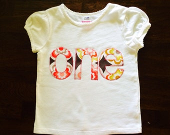 Custom order for Sarah-Girls First Birthday Shirt- ONE Customized for Birthday Themes