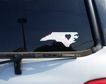 State Iridescent glitter car decals