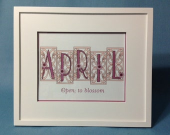 Framed Personalized Name and Meaning