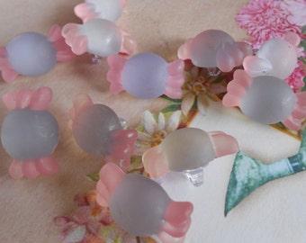 Buttons Candy Matt Shank Pink/Lilac 6pcs.