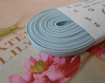 "Elastic Skinny Headband Pale Blue 1/4"" width 5MT."