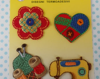 Iron-on Applique Embroidered Patch Sewing Set of 4