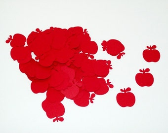 Apple Confetti/ Teacher/ School Banquet/ Birthday/ 100 Pieces