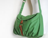 Handbag, New Year SALE 40% - Fortuner-S, Green, Laptop bag, Shoulder Bag, Messenger Bag,  Women, Gift For Her, Purse