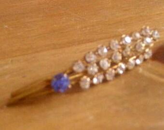 antique diamonte brooch