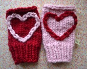 Love Heart Fingerless Gloves