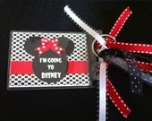Disney Themed Bag Tag -Minnie - I'm Going to Disney - Red & White