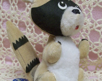 Dakin Dream Pet  Bandito Racoon Vintage 1960s Japan Original Tag