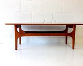 Labor Day Special mid century modern coffee table in teak
