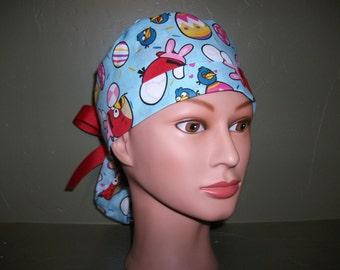 Free shipping. Easter ponytail scrub cap