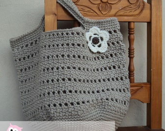 Market Bag, Beach Bag Crochet Pattern Digital Download