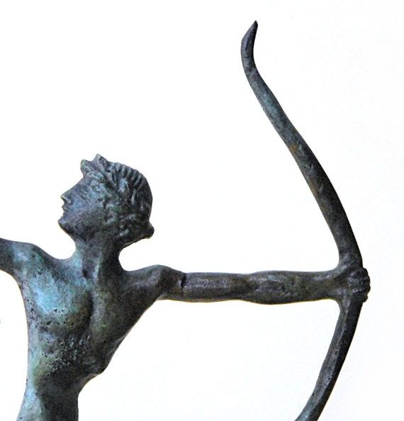 Archer Bronze Statue, Ancient Greek Athlete, Ancient Greece Olympic Games, Metal Art Sculpture, Greek Statue,Collectible Museum Quality Art