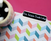 Chalkboard Labels - 12 File Folder Chalkboard Labels for Organization and Filing