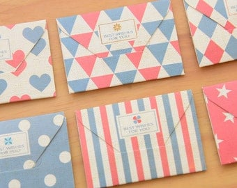 Mini Envelope Set - Best Wishes For You Collection - 6 Pcs