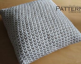 Super Bulky Chunky Pillow - Easy Beginner Crochet PATTERN - PDF 1820