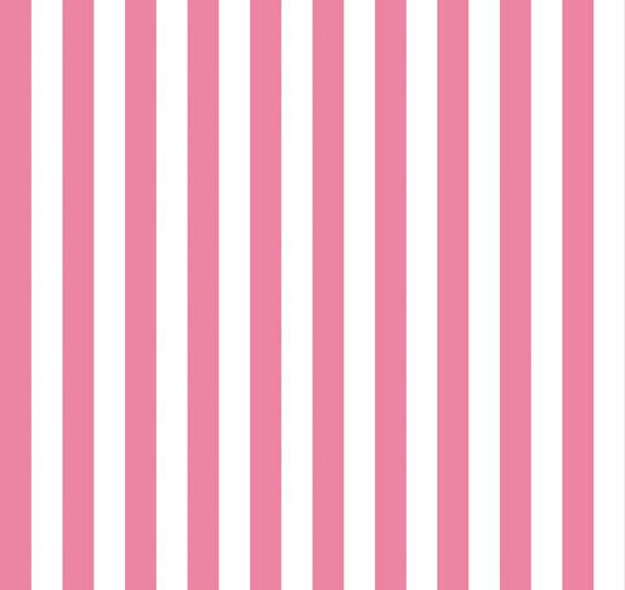 Chevron print fabric by the yard - Pink And White Small Striped Cotton Fabric By Riley Blake