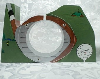 Golf Wooden Bank - Personalized Free