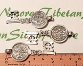 3 pcs a pack 55x22mm Large San Benito Key Antique Silver Finish Lead Free Pewter