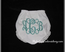 Personalized Baby Bloomers / Personalized Diaper Cover / Monogrammed Diaper Cover - Quick Shipping