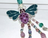 Gifts for Her PurpleTeal Butterfly Beaded Bookmark OOAK  FREE Blank Journal