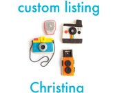 Custom Listing for Christina-camera cookie set (3 camera cookies plus 1 flash)