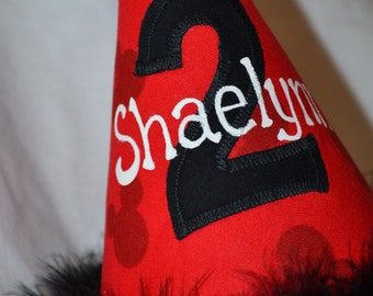 Mickey Mouse 2nd Birthday Party Hat with NAME Hand Painted