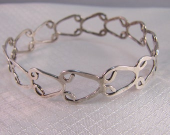 Handcrafted Sterling Wire Bracelet