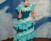 Barbie in a Crocheted 1900's Bridal Trousseau Gown