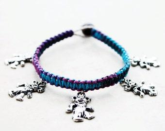 Dancing Bears Bracelet - Hemp Bracelet - Hemp Jewelry