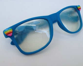 Rave light show glasses- Rainbow heart