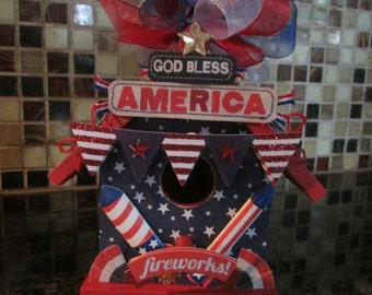 4TH OF JULY Birdhouse