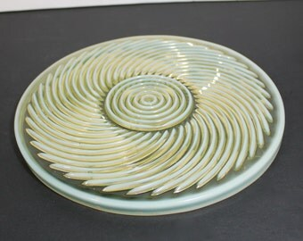 Antique Beatty Swirl Plate in Canary Opalescent