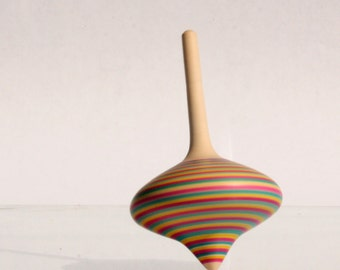 Lollipop colored spinning top (Onion shaped)