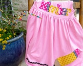 Back to School, Personalized Dress with Pencil Appliqué, Long Sleeved or Sleeveless 2 colors, 3-6m to 8yrs