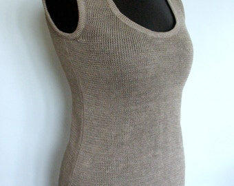 Linen T-shirt Top Sweater Natural Gray