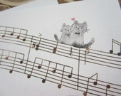 letter paper / musical note