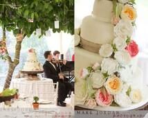 "15"" Large Rustic Wood cake stand  - Rustic wedding cake stand - Tree slice - Wedding centerpiece - Reclaimed wood tree slice"