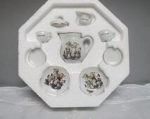 Vintage M.I. Hummel mini Collector Tea Set, made in Germany by Reutter Porcelain