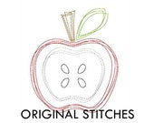 Apple Quick Stitch Machine Embroidery Design File 4x4 5x7 6x10