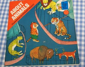 about animals, vintage 1976 children's book