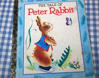 the tale of peter rabbit,  vintage 1992 children's little golden book