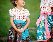 Jane Double Breasted Wrap Dress PDF Pattern & Tutorial, All sizes 2t-10 years included