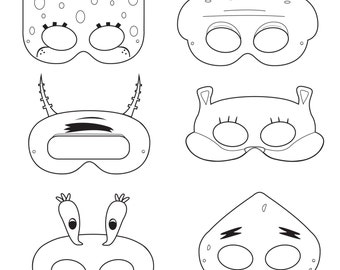 Squirrel mask template pictures to pin on pinterest for Sloth mask template