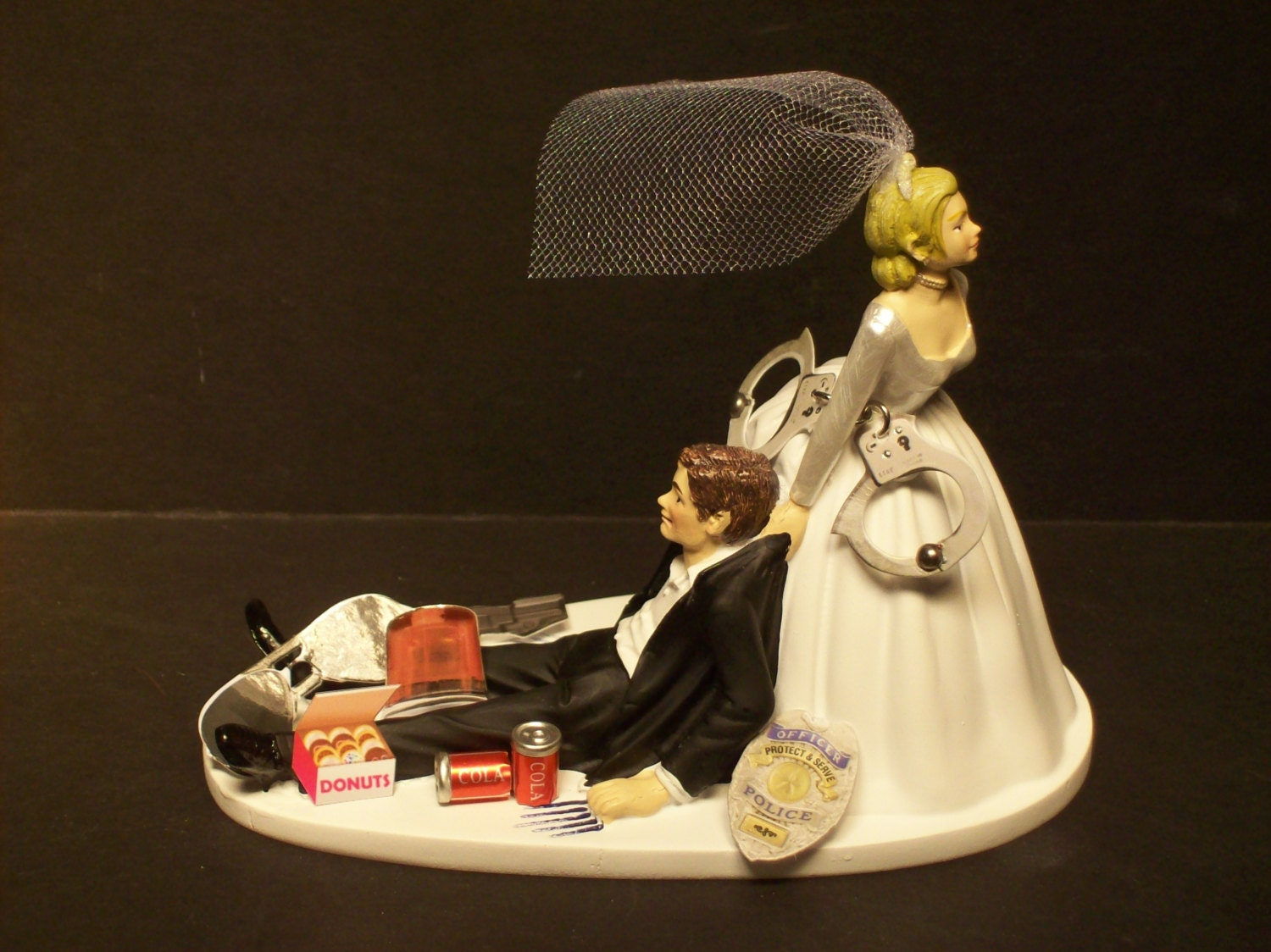 Police Wedding Cake Topper Funny Highway Patrol Cop