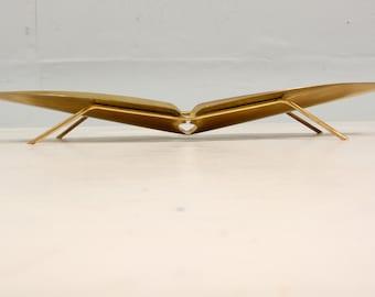 Mid Century Modern Ikora Brass Serving Plate