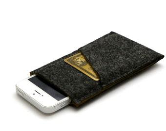 iPhone 6 Cover, iPhone 6 Plus Sleeve, iPhone 5 Case, iPhone 6 Case, iPhone 6 Plus Cover, iPhone 6 Sleeve - Dark Gray & Dark Golden Rod